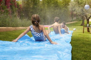Children on Slip 'N Slide